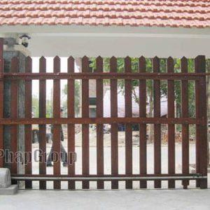 Motor cổng trượt lùa tự động biệt thự Long Biên