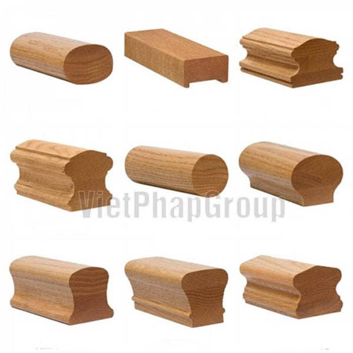 Mẫu tay vịn cầu thang gỗ đẹp