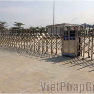 Cung cấp lắp đặt cổng xếp inox tại KCN Thăng Long, Đông Anh, Hà Nội