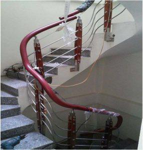 Cách uốn tay vịn nhựa cầu thang