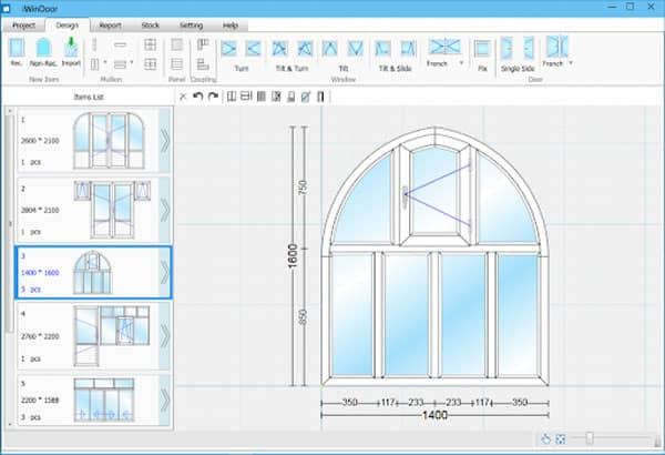 Phần mềm cửa nhôm Iwindow