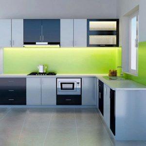 Kính nội thất phòng bếp hiện đại