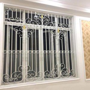 Hoa sắt cửa sổ sơn tĩnh điện bền đẹp