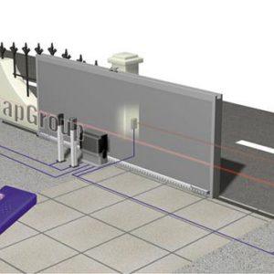 Bản vẽ minh họa cổng chạy lùa điện tự động