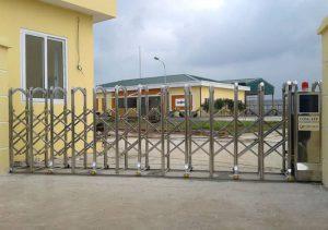 Lắp đặt cổng điện xếp tự động tại Nam Định