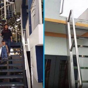 Mẫu cầu thang sắt ngoài trời đẹp được việt pháp thi công