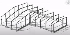 Mô hình bản vẽ nhà khung thép mái tôn