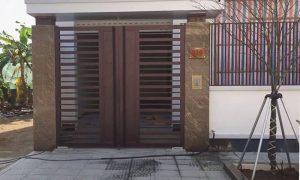 Các loại cửa cổng sắt thiết kế đơn giản sang trọng cho nhà đẹp